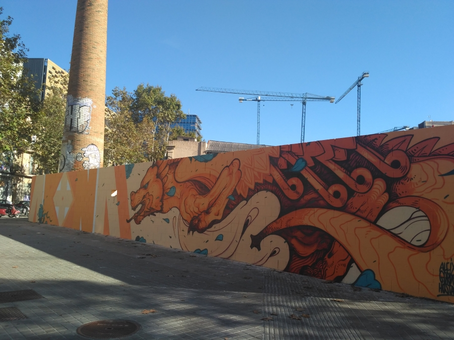 Wallspot - evalop - Aleix Gordo Hostau - Barcelona - Poble Nou - Graffity - Legal Walls - Illustration
