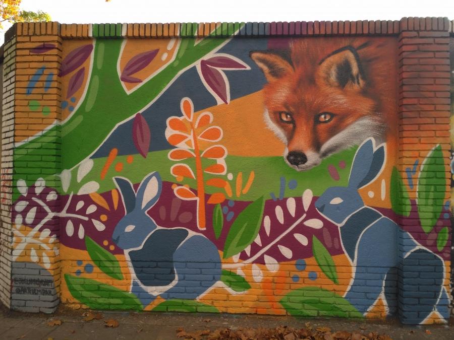 Wallspot - evalop - Sandra Suarez & Joel Arroyo - Barcelona - Selva de Mar - Graffity - Legal Walls - Illustration - Artist - Joelarroyo