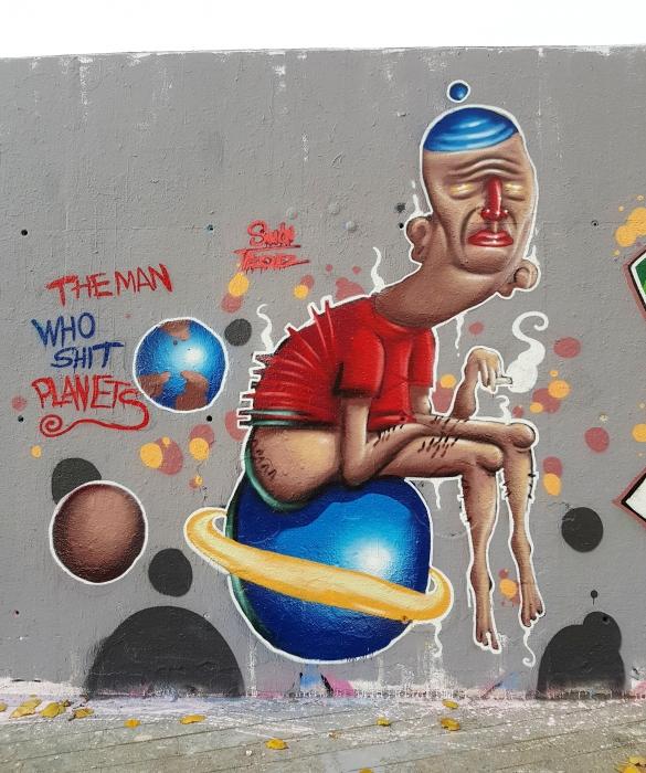 Wallspot - senyorerre3 - Art Simón Vázquez  - Barcelona - Tres Xemeneies - Graffity - Legal Walls - Illustration - Artist - Simon