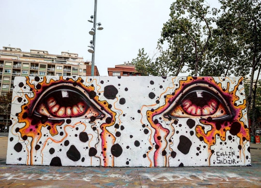 Wallspot - senyorerre3 - Art Collin Salazar  - Barcelona - Tres Xemeneies - Graffity - Legal Walls - Illustration - Artist - Collin Salazar