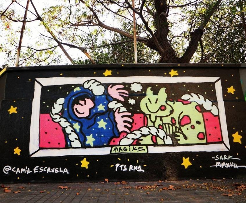 Wallspot - senyorerre3 - Kamil Escruela  - Barcelona - Agricultura - Graffity - Legal Walls - Illustration - Artist - kamil escruela