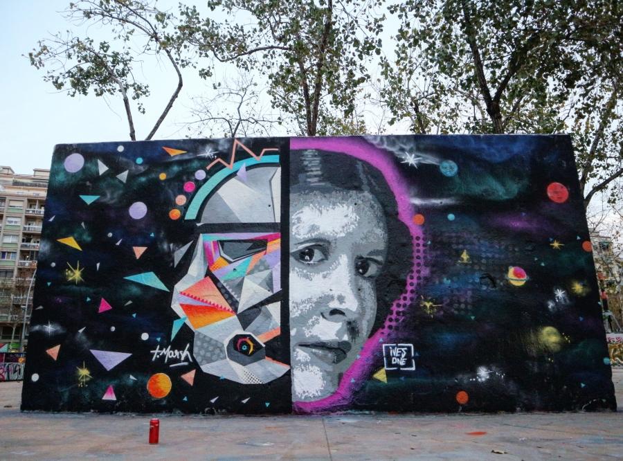 Wallspot - senyorerre3 - Art Tim Marsh & Ivesone - Barcelona - Tres Xemeneies - Graffity - Legal Walls - Illustration - Artist - TimMarsh