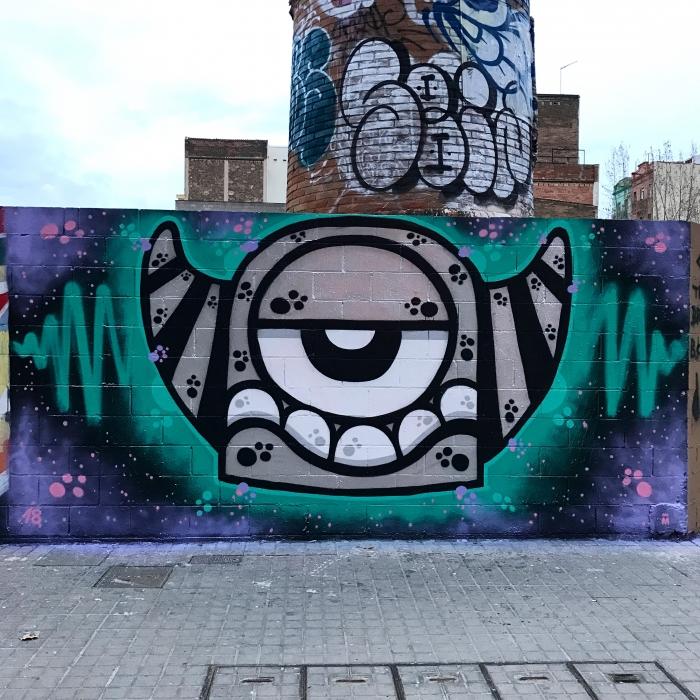 Wallspot - Mr.M -  - Barcelona - Poble Nou - Graffity - Legal Walls -