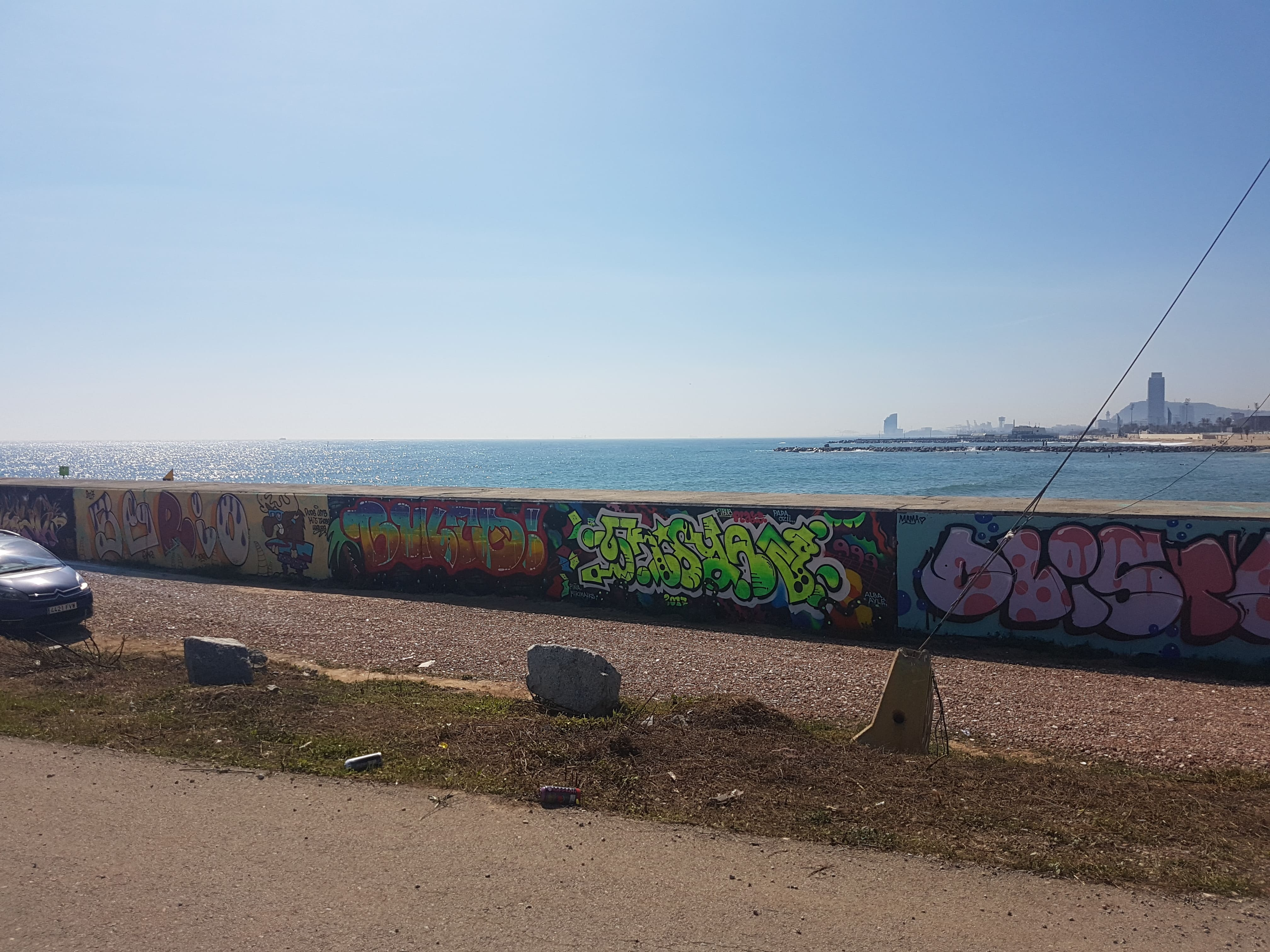 Graffiti wall barcelona - Forum Beach