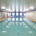 warm 90 degrees swimming pool