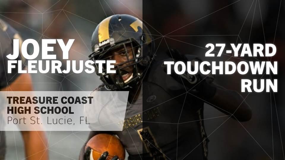 Joey Fleurjuste S Port St Lucie Fl Video 27 Yard Touchdown Run