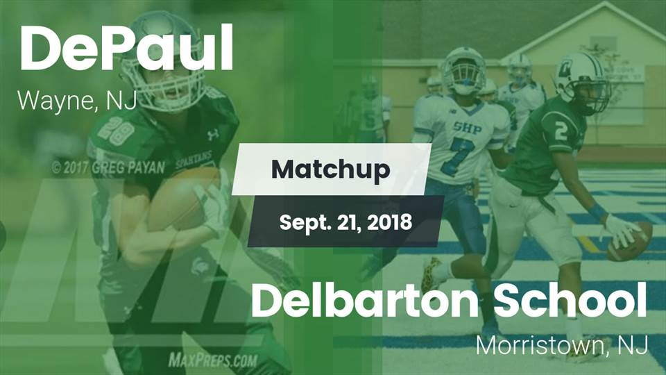 Depaul Catholic Hs Football Video Matchup Depaul Vs Delbarton