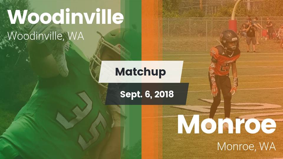Woodinville Hs Football Video Matchup Woodinville Vs Monroe 2018