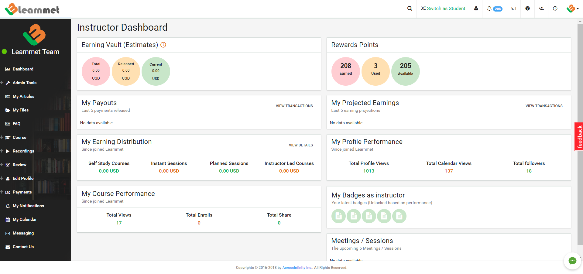 Know your learnmet teacher dashboard