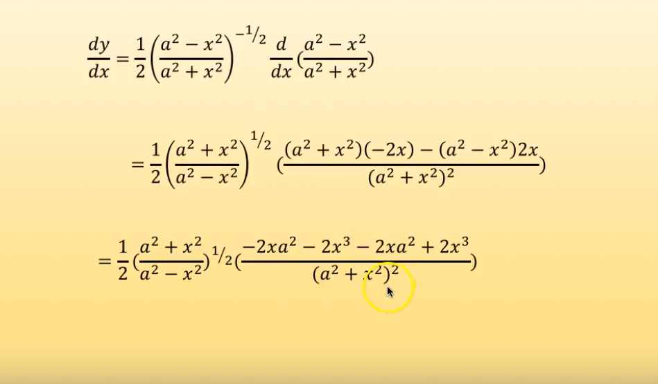 derivatives of composite functions