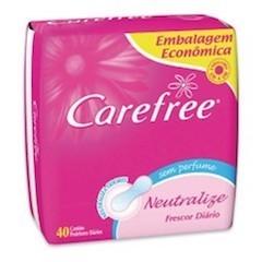 Protetor Diário Carefree Proteção Sem Perfume