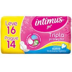 Absorvente Intimus 3x Proteção - Suave C/Abas 16 Un.