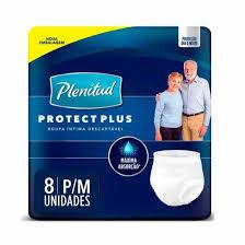 Roupa Íntima Plenitud Protect Plus - P/M 8 Un.