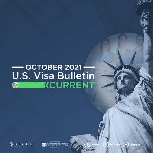 Monthly US Visa Bulletin For PH Nurses | October 2021
