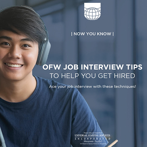 Now You Know | OFW Job Interview Tips to Help You Get Hired