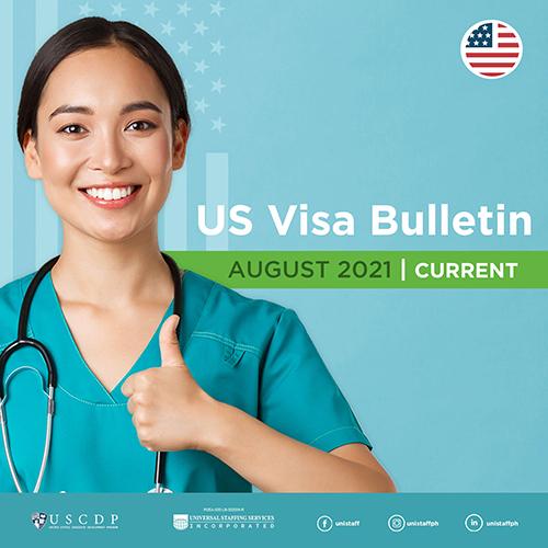 Monthly US Visa Bulletin For PH Nurses | August 2021