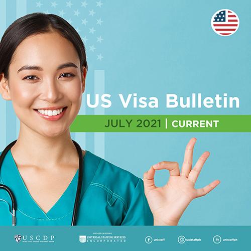 Monthly US Visa Bulletin For PH Nurses | July 2021