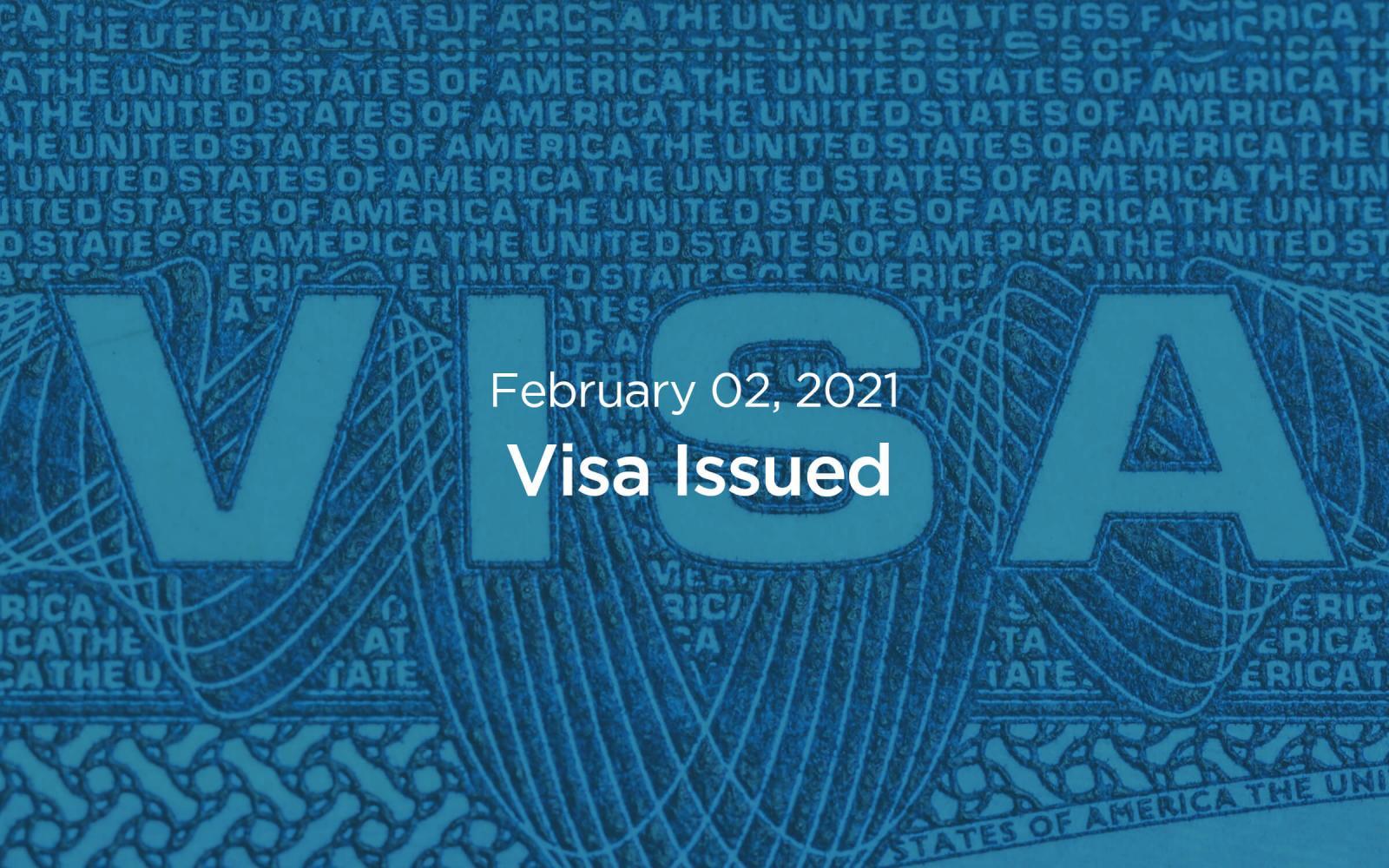 visa issued