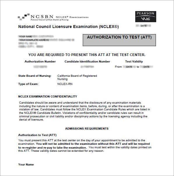 Authorization to Test (ATT) sample