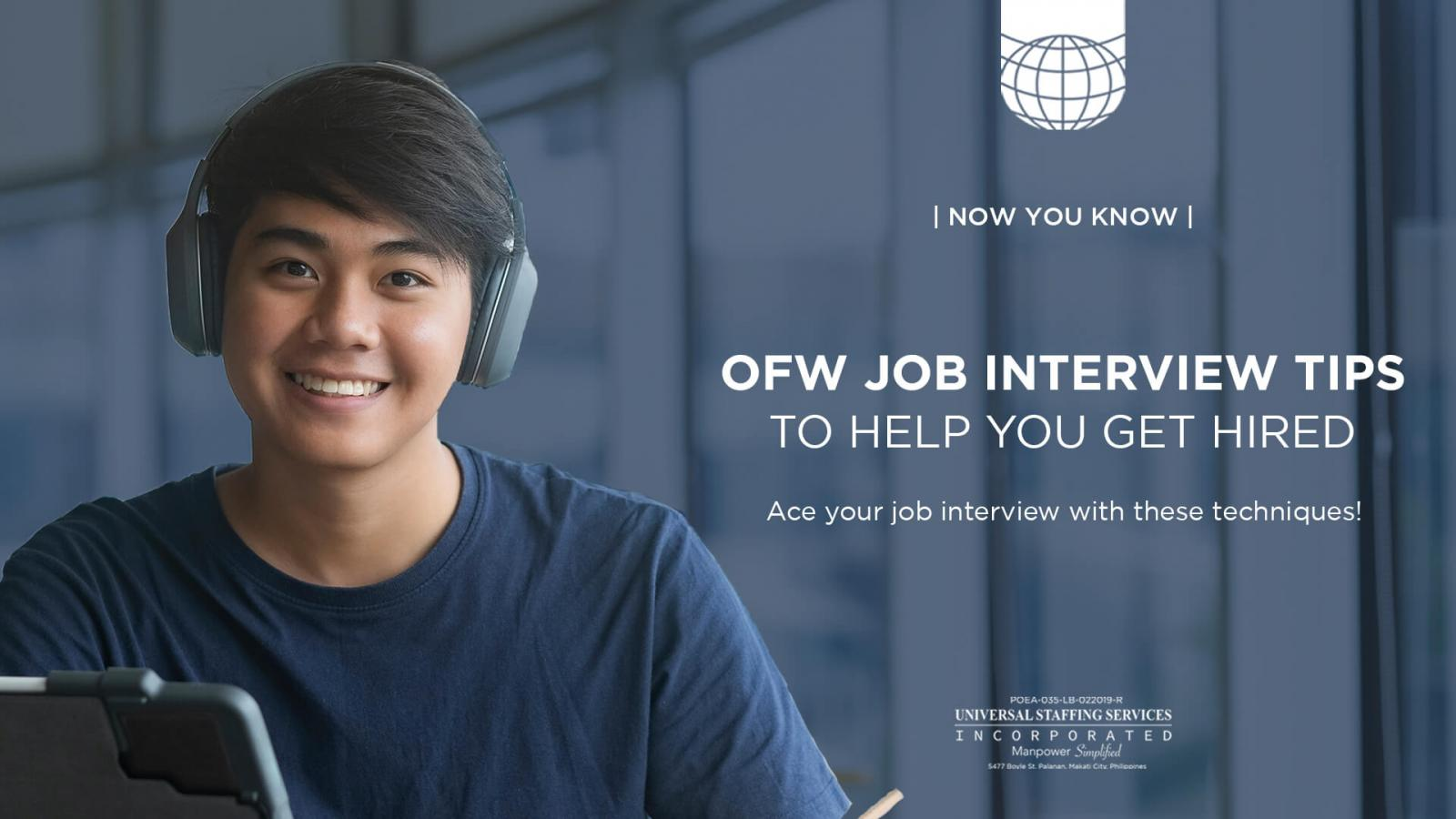 OFW Job Interview Tips to Help You Get Hired