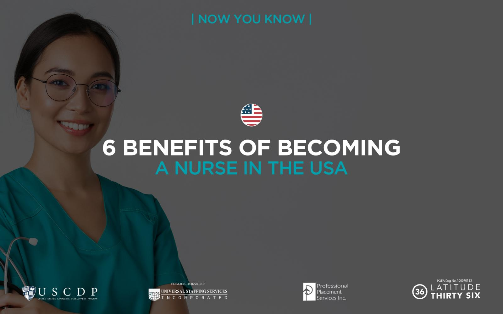 6 benefits of becoming a nurse in the USA