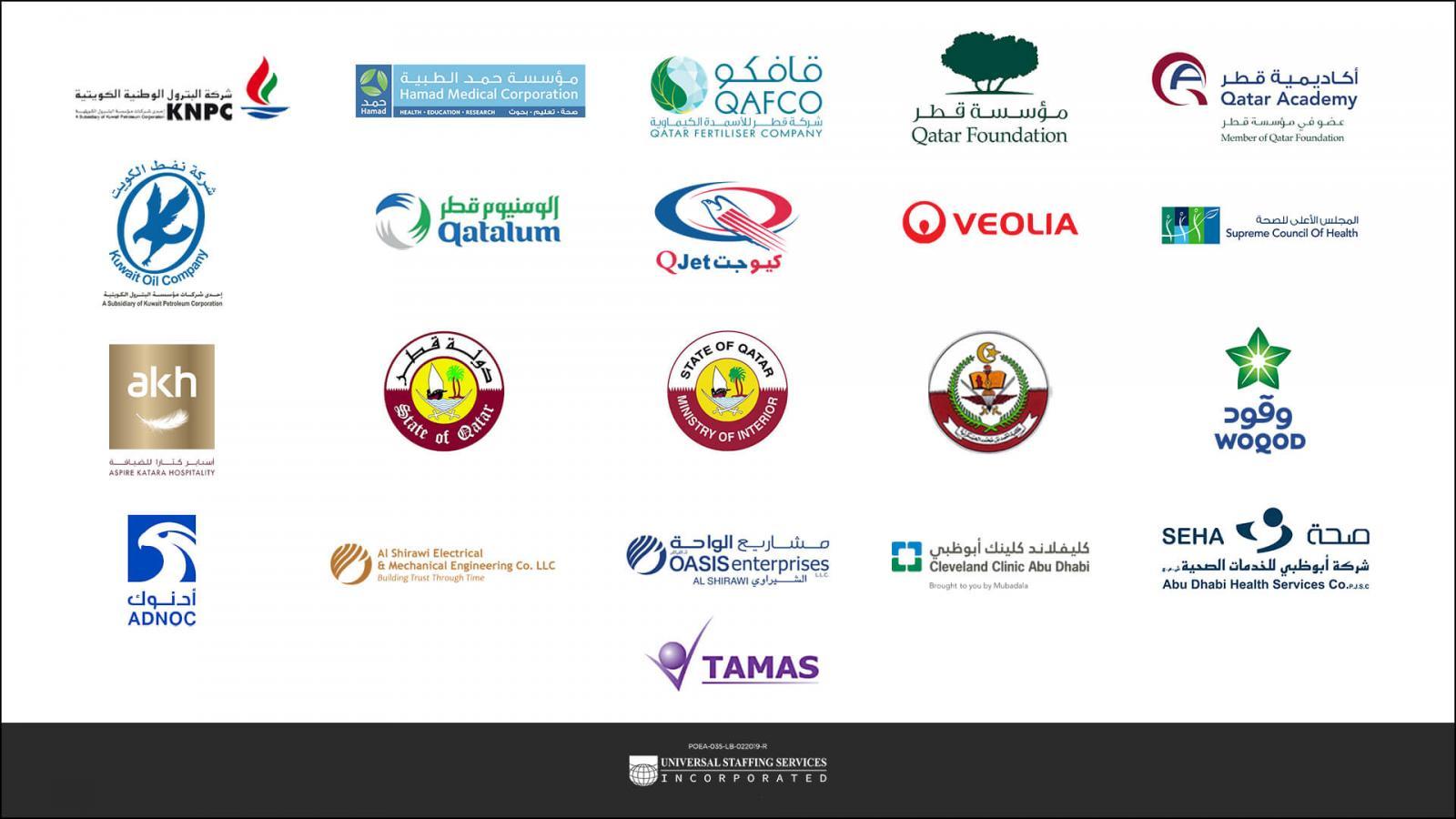 Unistaff client partners logos