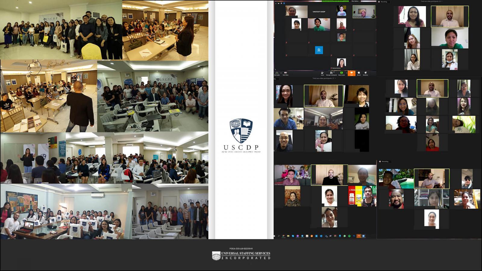 virtual selfie of USCDP participants