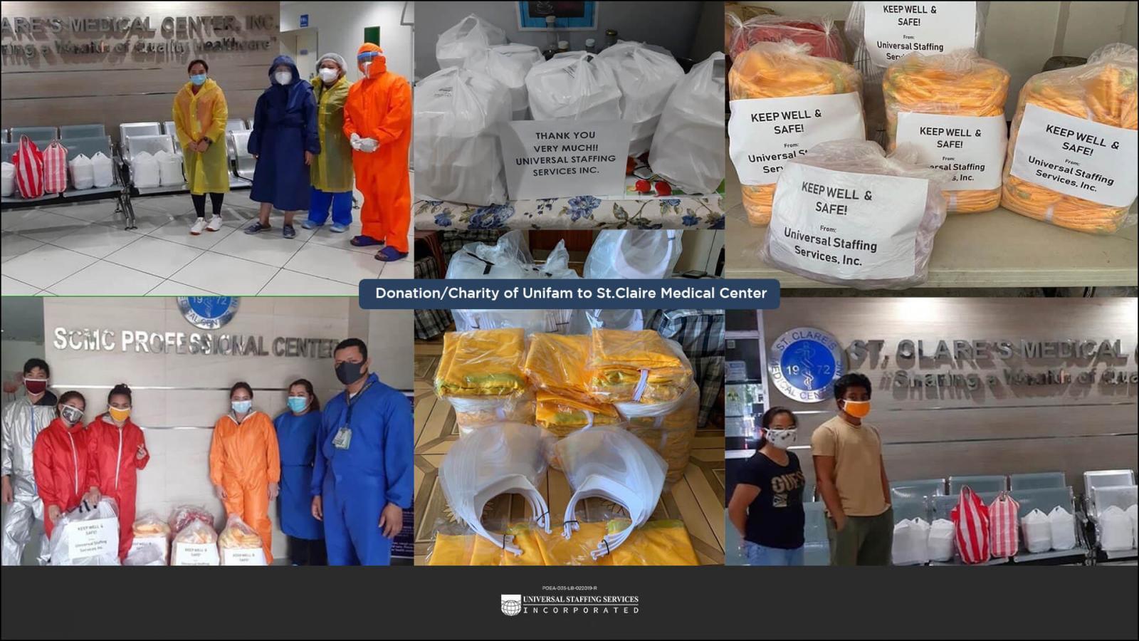 Team Unistaff charity work photos