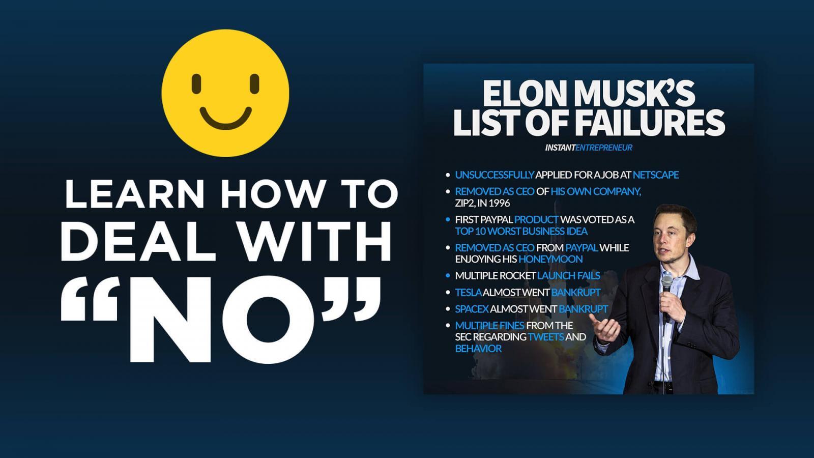 Elon Musk's list of failures