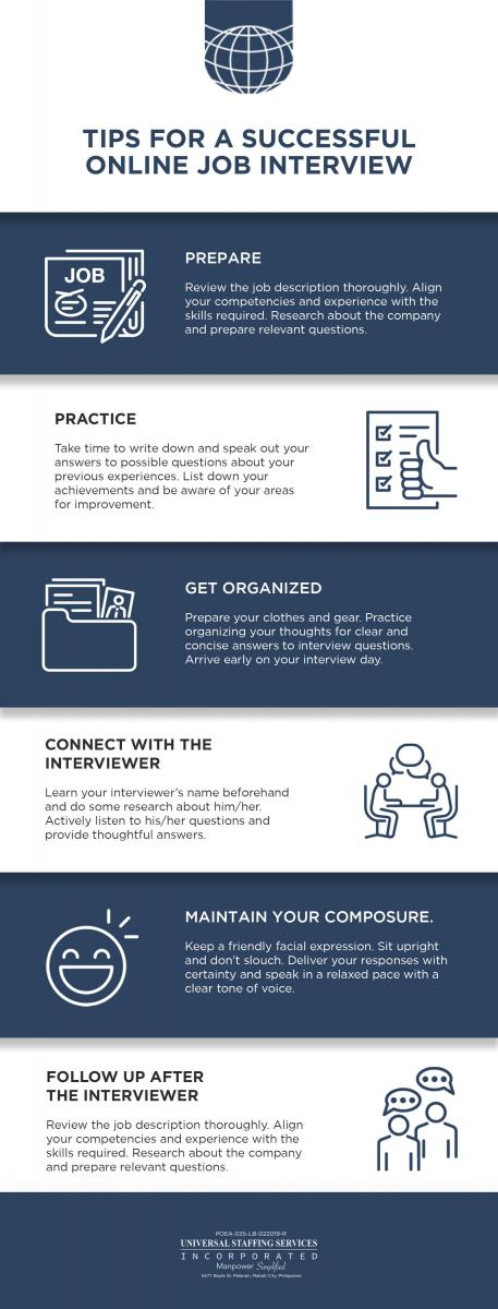 Infographic OFW Job Interview Tips to Help You Get Hired