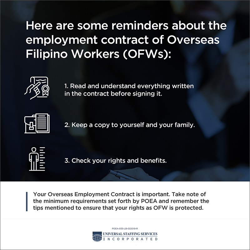 OFW Employment Contract Infographic