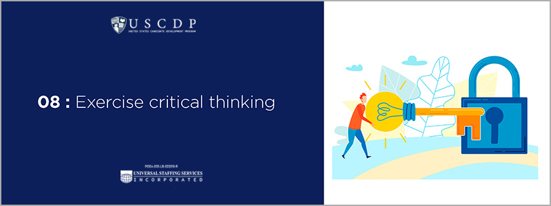 Exercise critical thinking