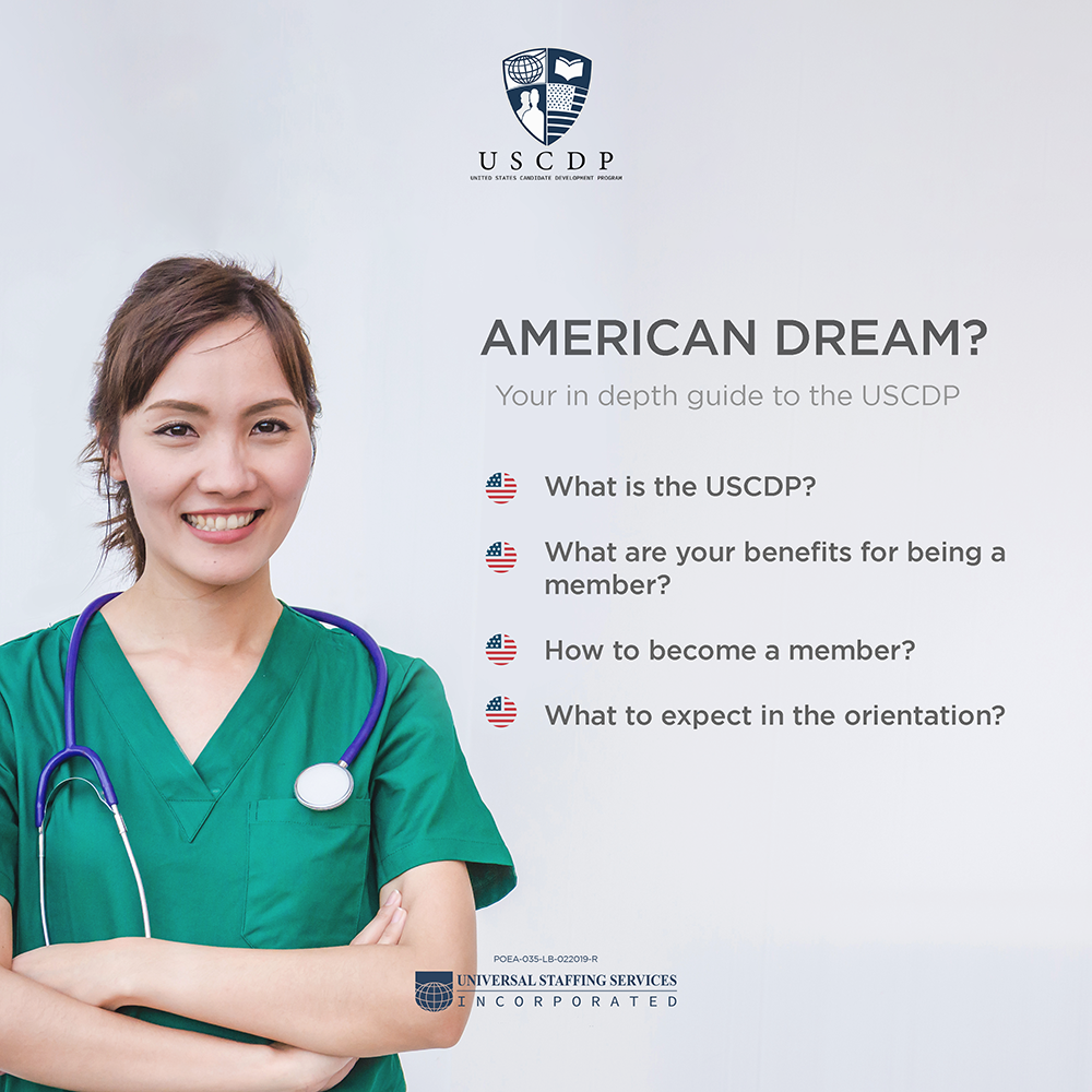 nurse smiling with USCDP article summary