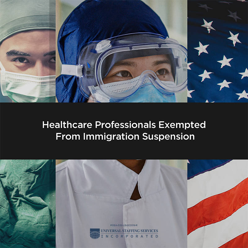 healthcare professionals exempted from immigration suspension