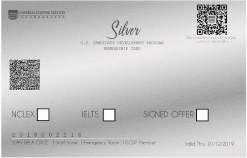 USCDP SILVER CARD