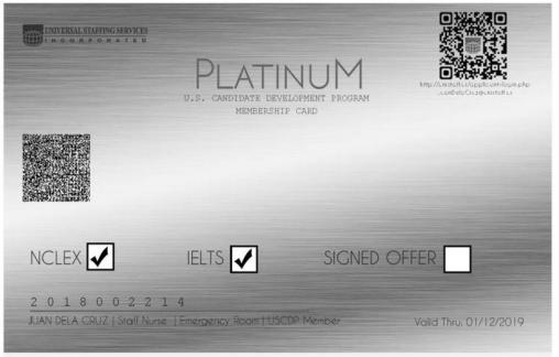 USCDP PLATINUM CARD