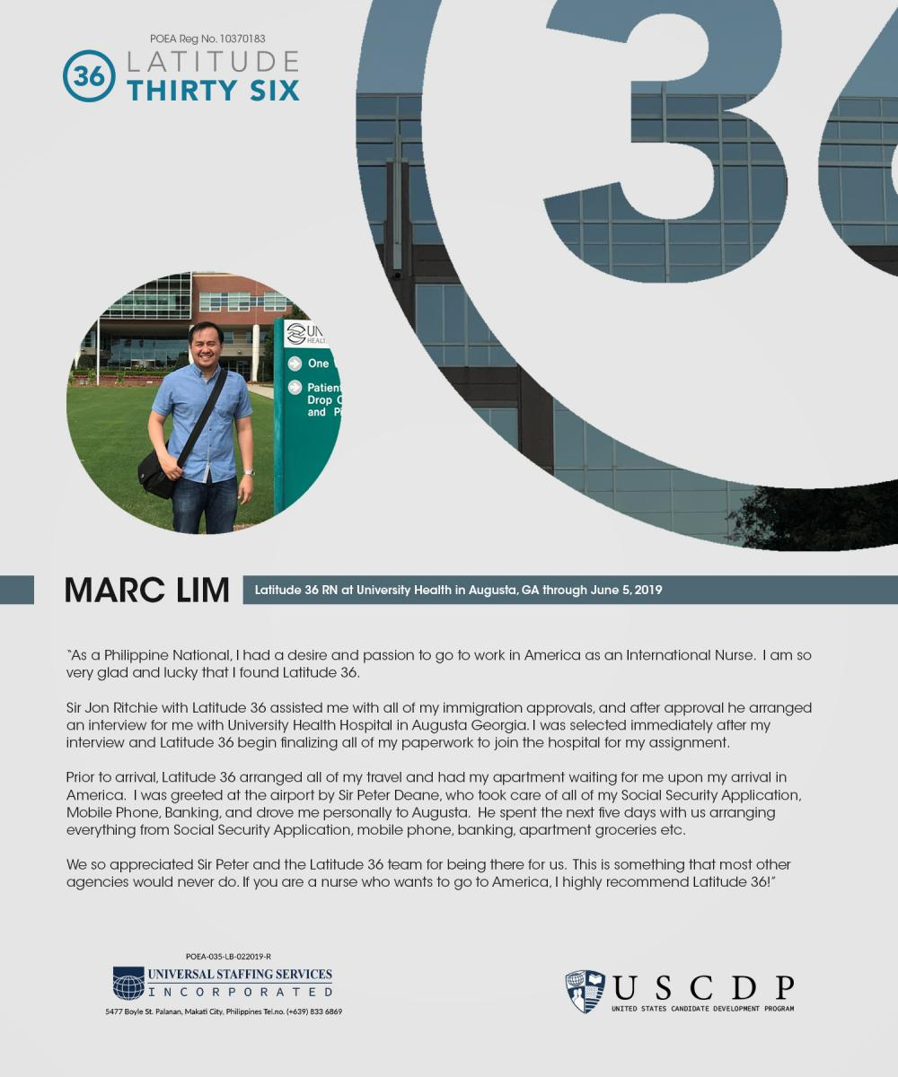 Lat36 testimonial by Marc Lim