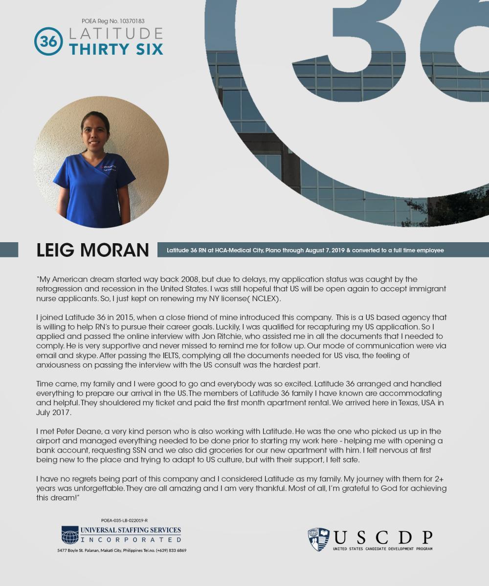 Lat36 testimonial by Leig Moran