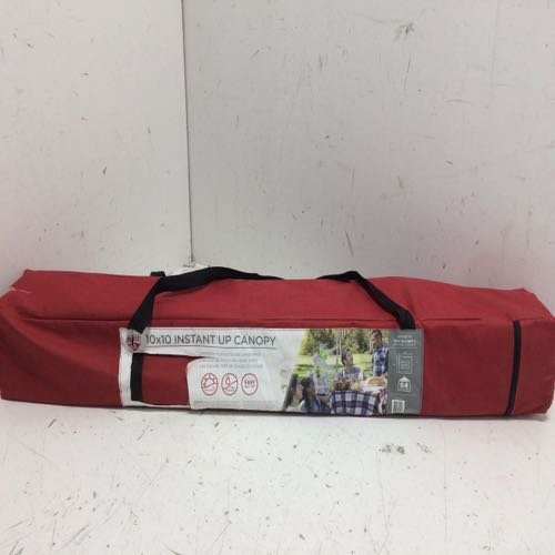 Quest CEH00296 Instant Up Canopy size 10ft 10ft Red
