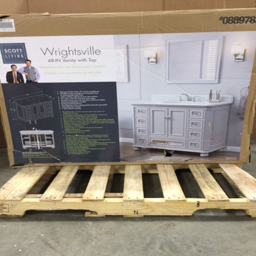 Scott Living  0889783 Wrightsville Vanity Without Top  Size 48