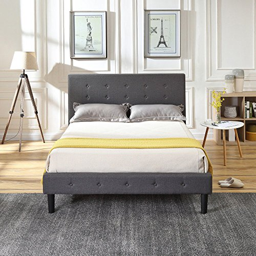 Decora 121804-5250  Morington Upholstered Platform Bed Frame  Size Queen