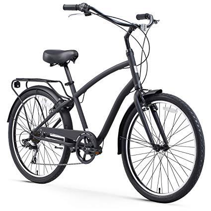 Sixthreezero men's 7 speed hybrid bike  matte black