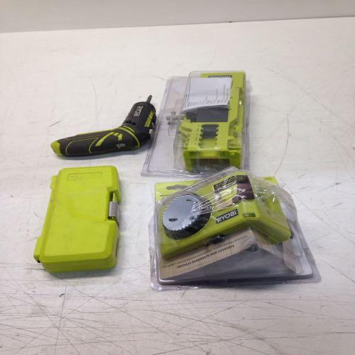 Ryobi Wood/metal Door Lock Installation Kit, Cordless Drill And Drill Bits