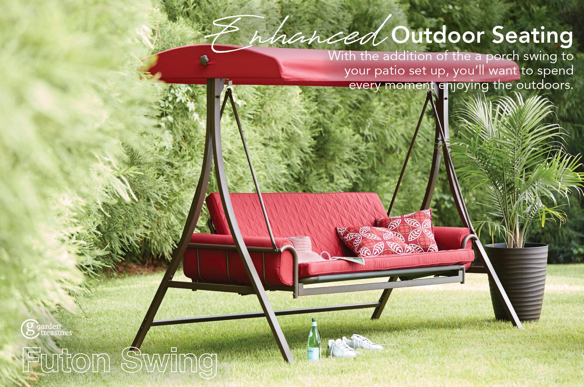 garden treasures 0878764 3 seat swing size 7.87' x 6'