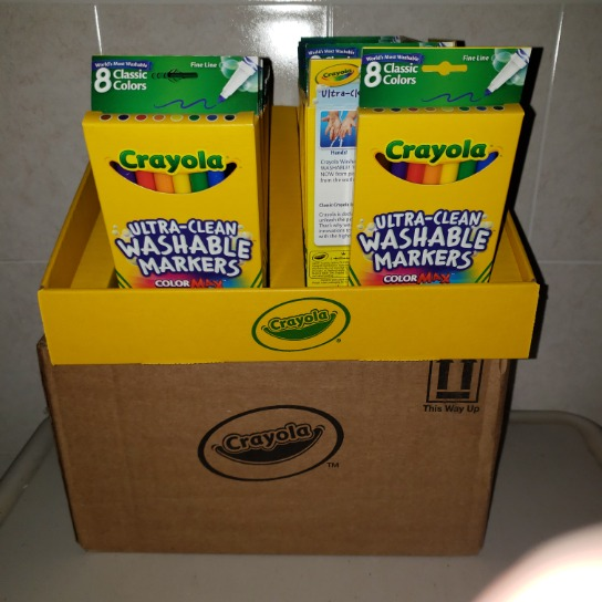 1 Case Crayola Ultra Clean Washable Markers In Store Display 35 Retail Ready Packages