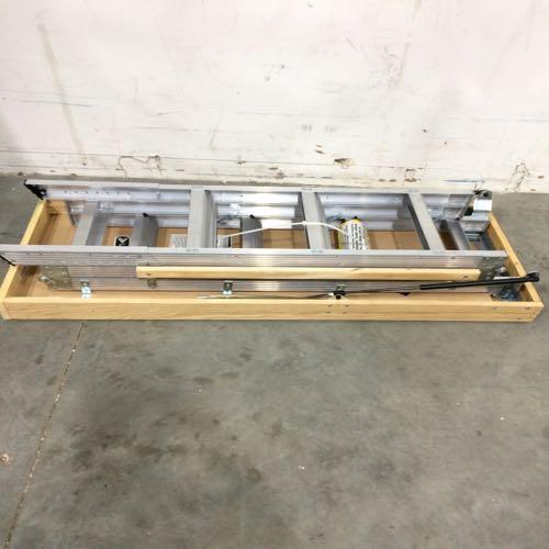 Louisville AA2210R5 Aluminum Attic Ladder  size 7 FT 8 IN - 10 FT 3 IN  Aluminum