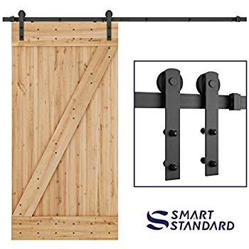 Ltl Home Products  8BDSW2480KDZ Solid Wood Interior Barn Door Kit  Size 24 X80