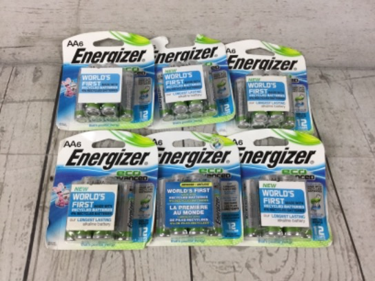 Energizer Eco Advanced AA Batteries, 6-6 Packs 12/2027