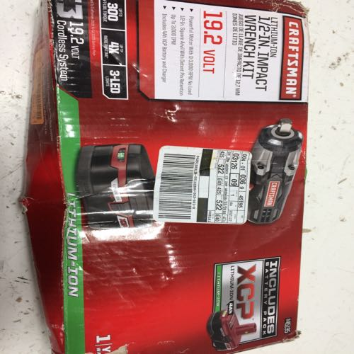 Craftsman XCP 1/2 In Impact Wrench Kit