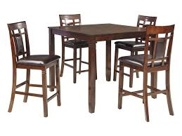 Signature Design By Ashley D384-223 Dining Table/Chair Set   Size 5 Piece Brown